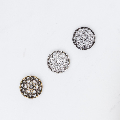 11mm   Lace Filigree Element   12 Pieces