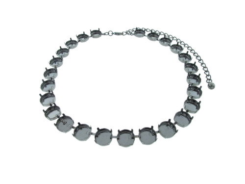 12mm Round   Classic 25 Setting Necklace   Three Pieces