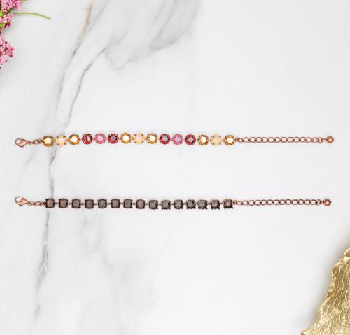 8.5mm   Classic Fifteen Setting Bracelets   Three Pieces
