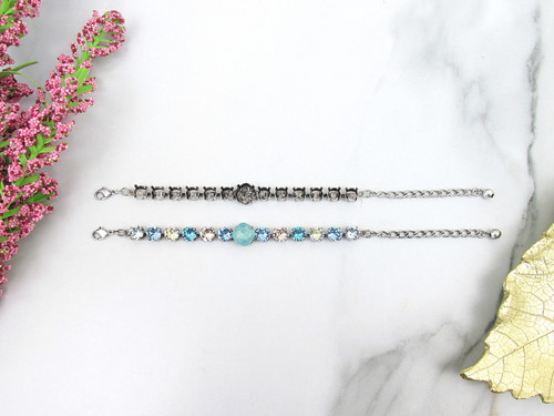 8.5mm & 12mm Square | Sophisticated Thirteen Setting Bracelets | Three Pieces