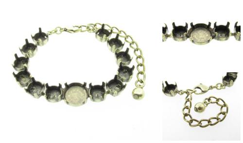 Empty Special Design Bracelets Style 8 - 8.5mm (39ss) & 12mm Rivoli Round