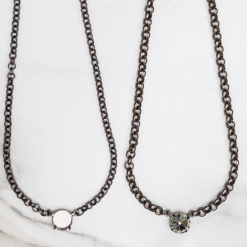 12mm Round   Pendant Necklace   Three Pieces