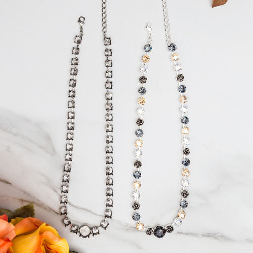 8.5mm & 12mm Square | Statement Necklace | Three Pieces