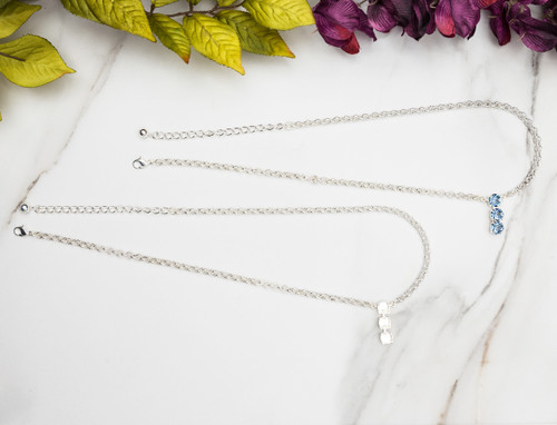 8.5mm | Three Setting Drop Necklace | Three Pieces
