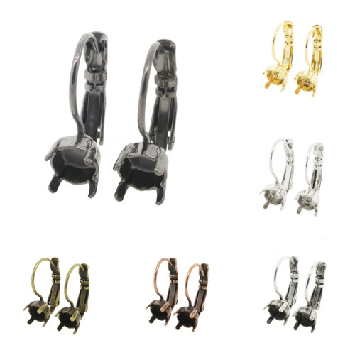 6mm (29ss) Lever Back Empty Earrings