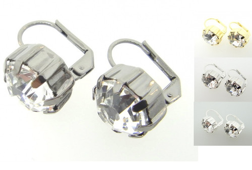 Austrian Crystal Earrings 11mm Crystal 3 Pairs