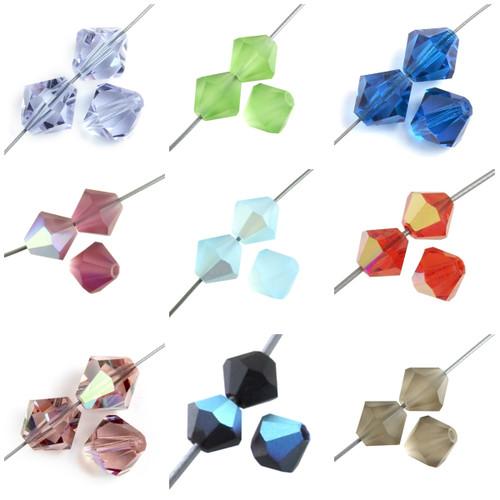 4mm Preciosa Bicone Beads