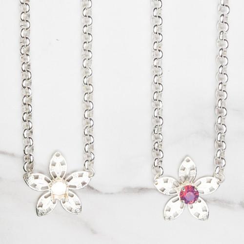 8.5mm | Flower Filigree Necklace | Three Pieces