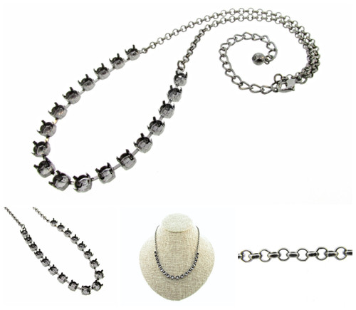 6mm 29ss 18 Box Empty Necklaces 3 Pieces - Smooth Or Textured Rolo Chain