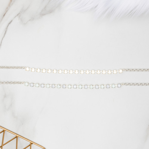 6mm | Classic Eighteen Setting Necklace | Three Pieces