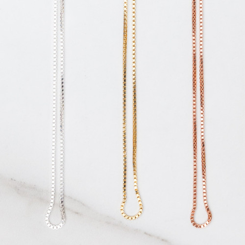 Box Necklace Chain | Three Pieces