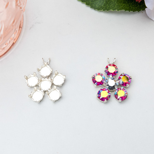 8.5mm | Flower Pendant | Three Pieces