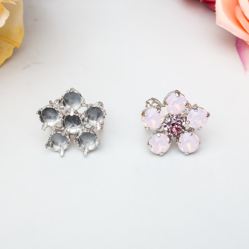 8.5mm | Flower Filigree Adjustable Ring | Three Pieces