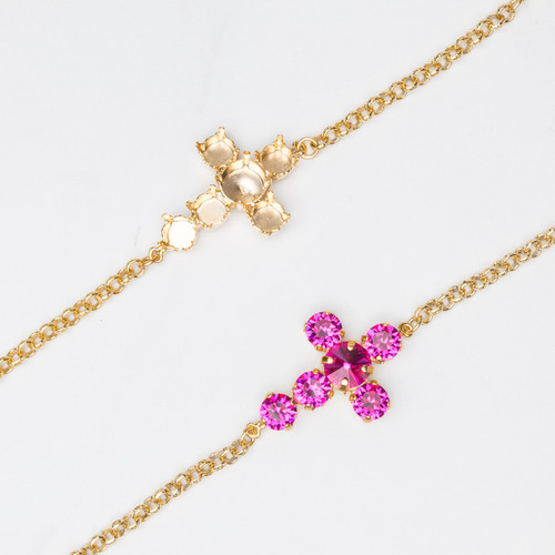 8.5mm & 11mm | Cross Bracelet | Three Pieces
