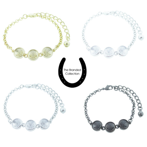 The Branded Collection - 8.5mm (39ss) Chaton Casted Three Station Bracelet