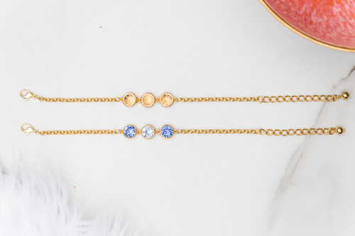8.5mm | Three Setting Casted Bracelet | One Piece