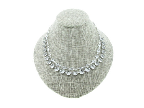8.5mm (39ss) 22 Box Empty Necklace With Layered Chanel Chain