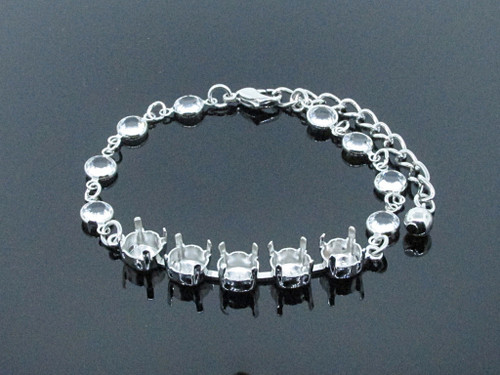 8.5mm (39ss) 5 Box Empty Bracelet With Channel Chain