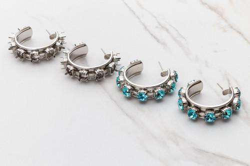 6mm | Eight Setting Hoop Earring | One Pair