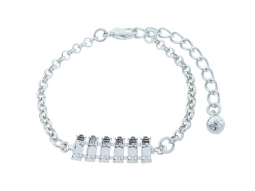 7mm x 3mm Baguette | Classic Six Setting Bracelet | One Piece