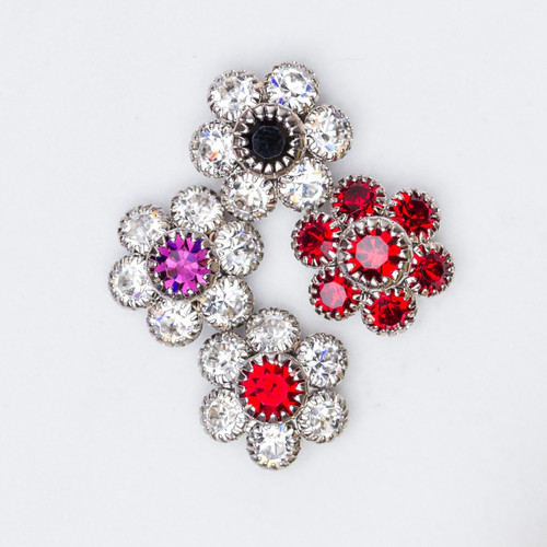 14mm | Austrian Crystal Daisy Elements | Six Pieces