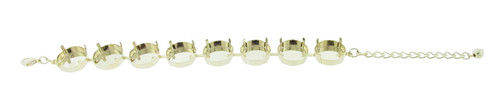 18mm Rivoli Round 8 Box Empty Bracelet in Gold