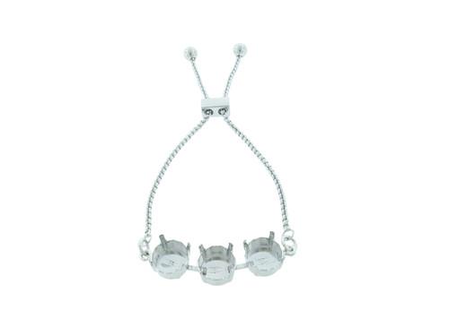 11mm | Three Setting Adjustable Slider Bracelet | One Piece