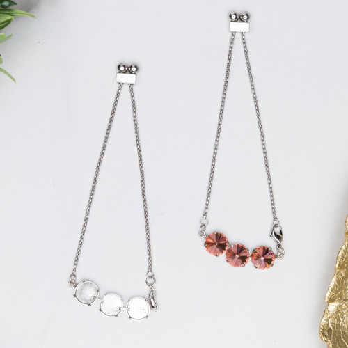 12mm Round | Three Setting Adjustable Slider Anklet | One Piece