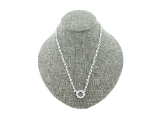 12mm Rivoli Round Crown Open Back Single Pendant Necklace