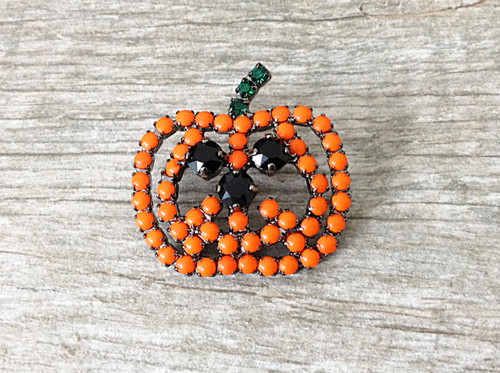 6mm (29ss) Three Setting Jack O' Lantern Pumpkin Pin