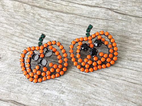6mm | Three Setting Jack O' Lantern Pumpkin Pin | One Piece