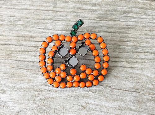 6mm (29ss) Three Setting Jack O' Lantern Pumpkin Pin