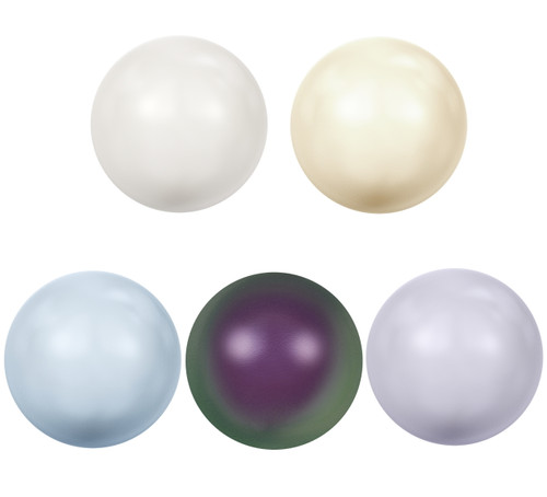 8.5mm | Glass Faux Pearl Cabochons | 24 Pieces