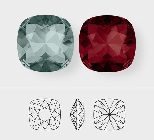 10mm | Square Cushion Cut | Swarovski Article 4470 | 3 Pieces