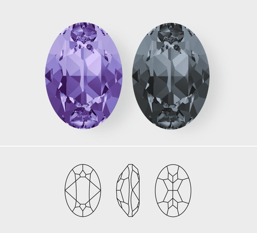 25mm x 18mm | Oval | Swarovski Article 4120 | One Piece