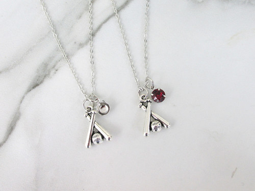 6mm   Baseball Charm Necklace   One Piece