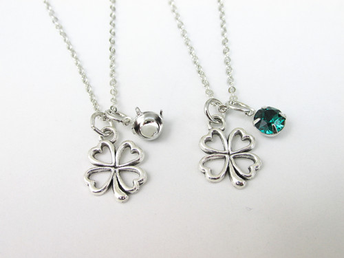 6mm | Four Leaf Clover Charm Necklace | One Piece