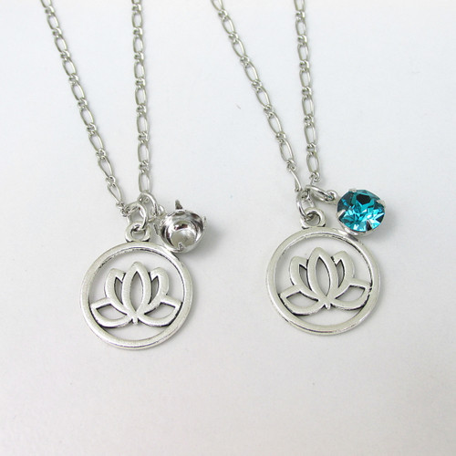 8.5mm | Lotus Flower Charm Necklace | One Piece