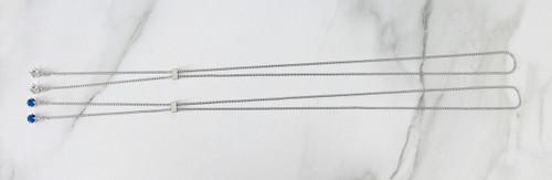 8.5mm   Single Setting Adjustable Slider Necklace   One Piece