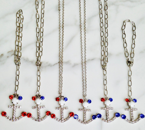 Patriotic Mouse Anchor Bundle with Swarovski Crystals