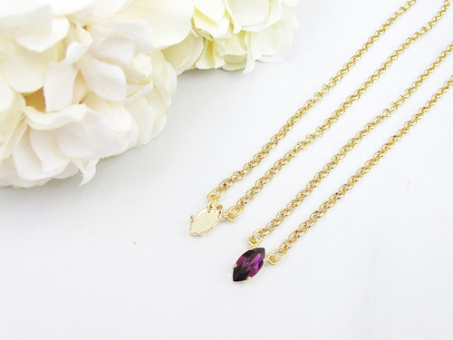 15mm x 7mm Navette | Single Pendant Necklace | Three Pieces