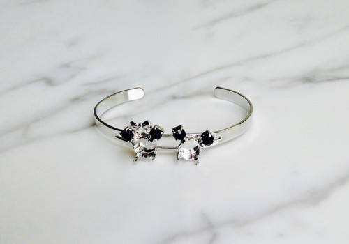 Small Boy & Girl Mouse Bracelet | Delicate Split Band Adjustable Cuff