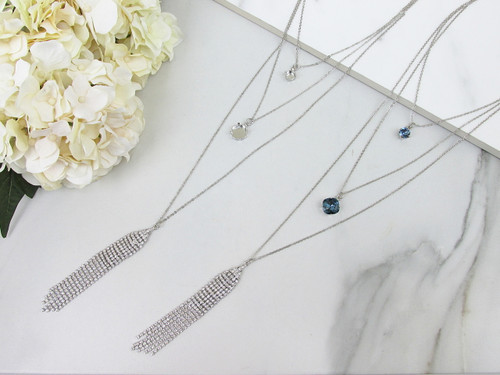 8.5mm & 12mm Square | Layered Necklace | One Piece