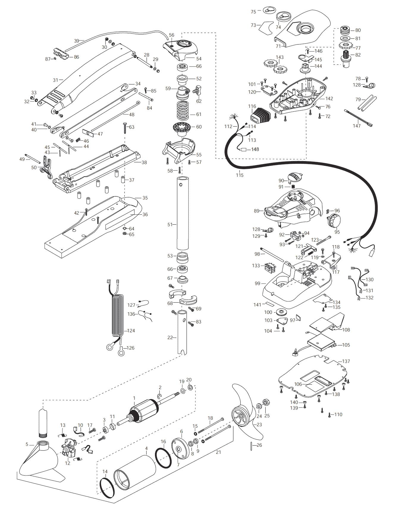 Minn Kota Maxxum 65  42 Inch  Parts