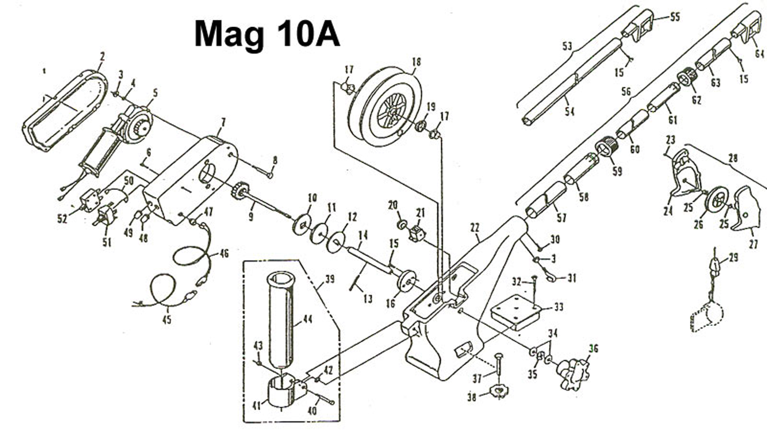 order cannon mag 10a  pre 2006 models  electric downrigger parts from fish307 com