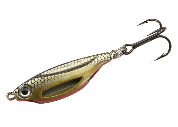 13 Fishing Flash Bang Jigging Rattle Spoon Golden Shiner - FB-GS38