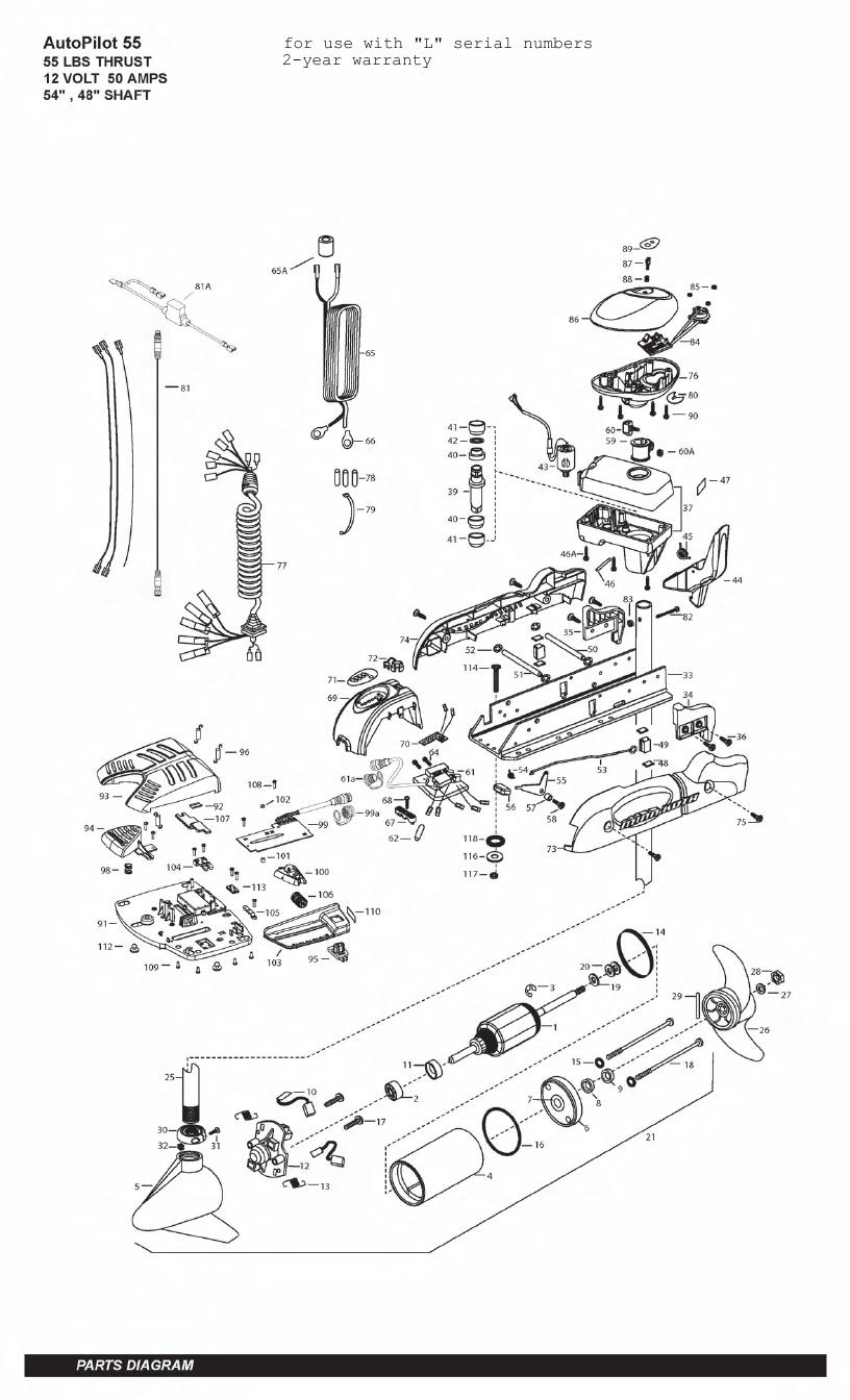Minn Kota AutoPilot V2 55 Parts - 2011