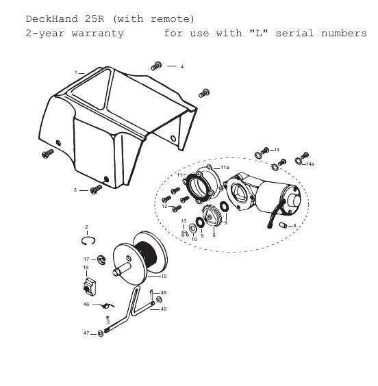 Minn Kota DeckHand 25R Parts - 2011