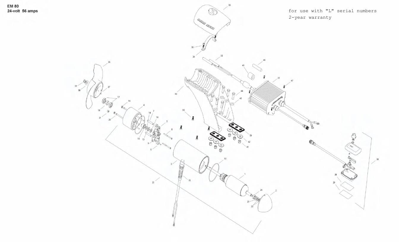 Minn Kota Engine Mount 80 Parts - 2011