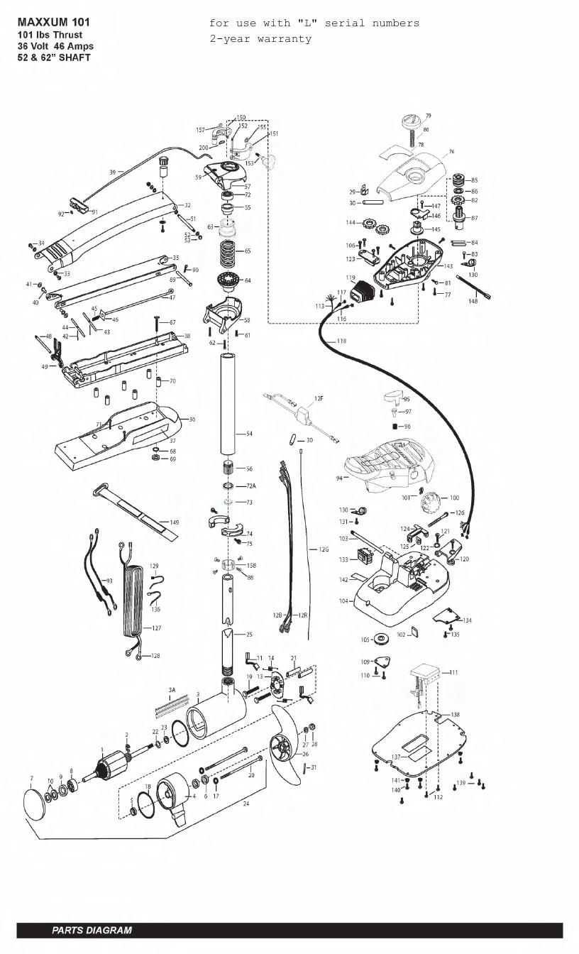 Minn Kota Max 101 (52 Inch) Parts - 2011